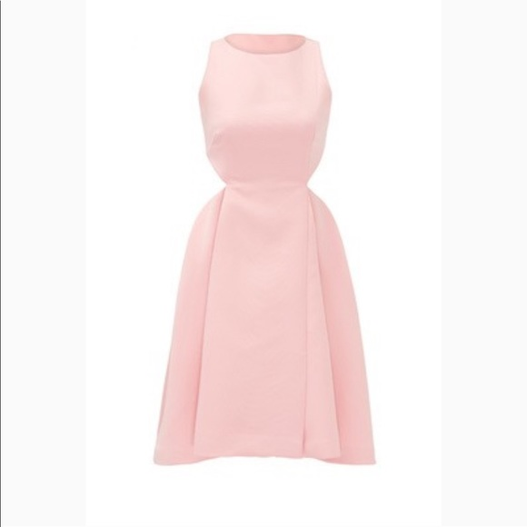 Halston Heritage Dresses & Skirts - Halston Heritage Pink Frost Dress with cutouts